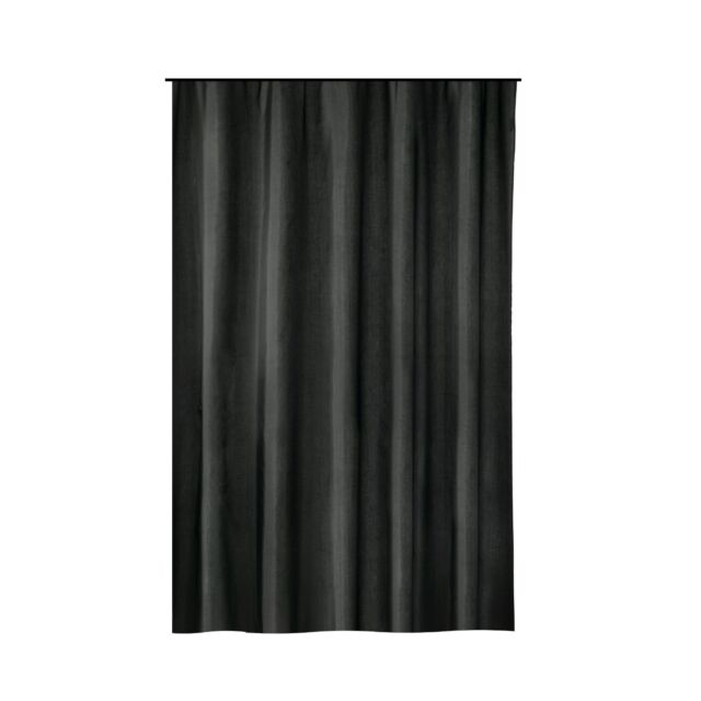 Extra Long Shower Curtain 72 X 78 Inch Gamma Black Fabric