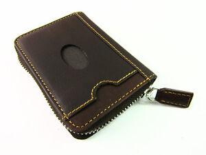 Nouveau Prime RFID Bloquant Zip-around Cuir Concertina carte de crédit titulaire Boxed