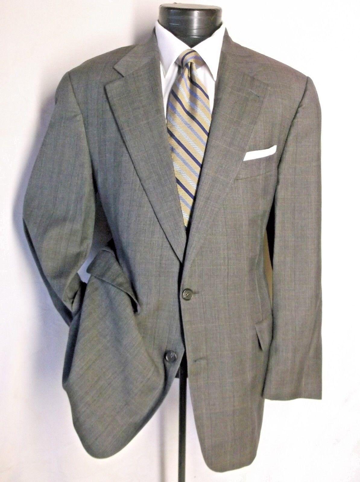 Brooks Brothers Suit 100% wool grau Braunish Plaid 2Button 41S Pant W 36