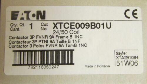 EATON KLOCKNER MOELLER XTCE009B01U 3 Pole 9 Amp 24 V Contactor