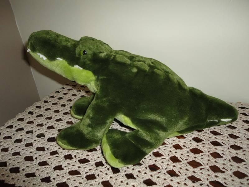 Alligator krokodil stofftier hell - dunkel - grne stofftiers 16 zentimeter