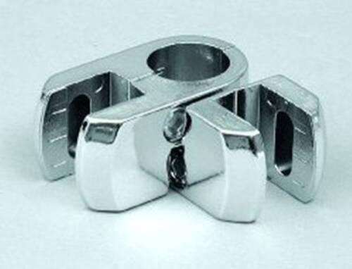 Rohrverbinder Verbinder Metall verchromt und Zubehör für Ø25 mm Rundrohr chrom