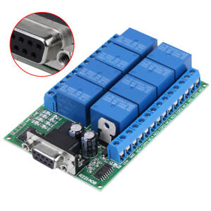 12-V-8-canal-DB9-RS232-Modulo-de-Rele-Interruptor-De-Control-Remoto-De-Casa-Inteligente