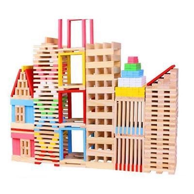 150pcs Jeux de Construction Blocs en Bois Jouets Educatifs Cadeau Enfants