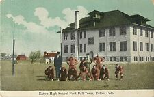 A View of the Eaton High School Football Team, Eaton CO 1916