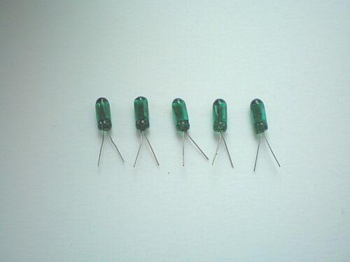 R24-10 Mini Lämpchen Glühlämpchen  GRÜN  5-12 V   100 mA  3mm