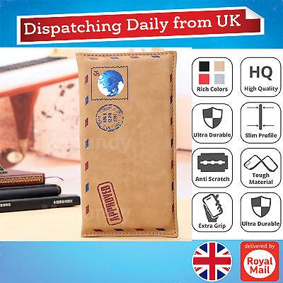 Retro Envelope Leather Wallet Bag Case Cover Pouch Handbag Samsung Phones LG G4