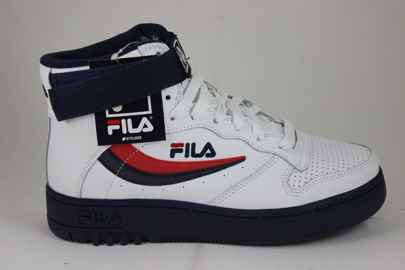 Men's Fila Retro Heritage Basketball  FX-100 White/Navy/Red 1VB90150-125 New New shoes for men and women, limited time discount