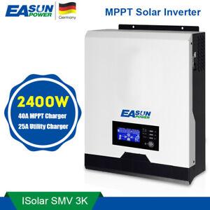 MPPT 3Kva 2400w 230V Solar Wechselrichter 24V 40A 25A netzunabhängiges Ladegerät