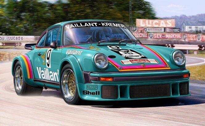 Porsche 934 Rsr Vaillant, Revell Car Model Building Kit 07032