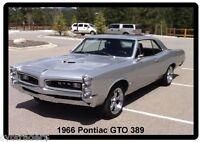1966 Pontiac Gto 389 Refrigerator / Tool Box Magnet