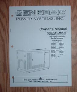 generac guardian model 004124 1 standby generator owners parts list rh ebay com guardian rv generator service manual Guardian Generator Dealers