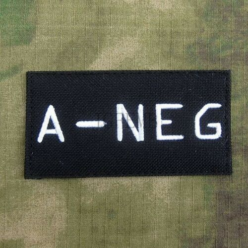 Black Call Of Duty 10 Ghosts COD10 Blood Type POS Embroidery  Patch Badges