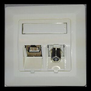 netzwerkdose rj45 cat 6a tv sat f keystone module kombidose unterputz ebay. Black Bedroom Furniture Sets. Home Design Ideas