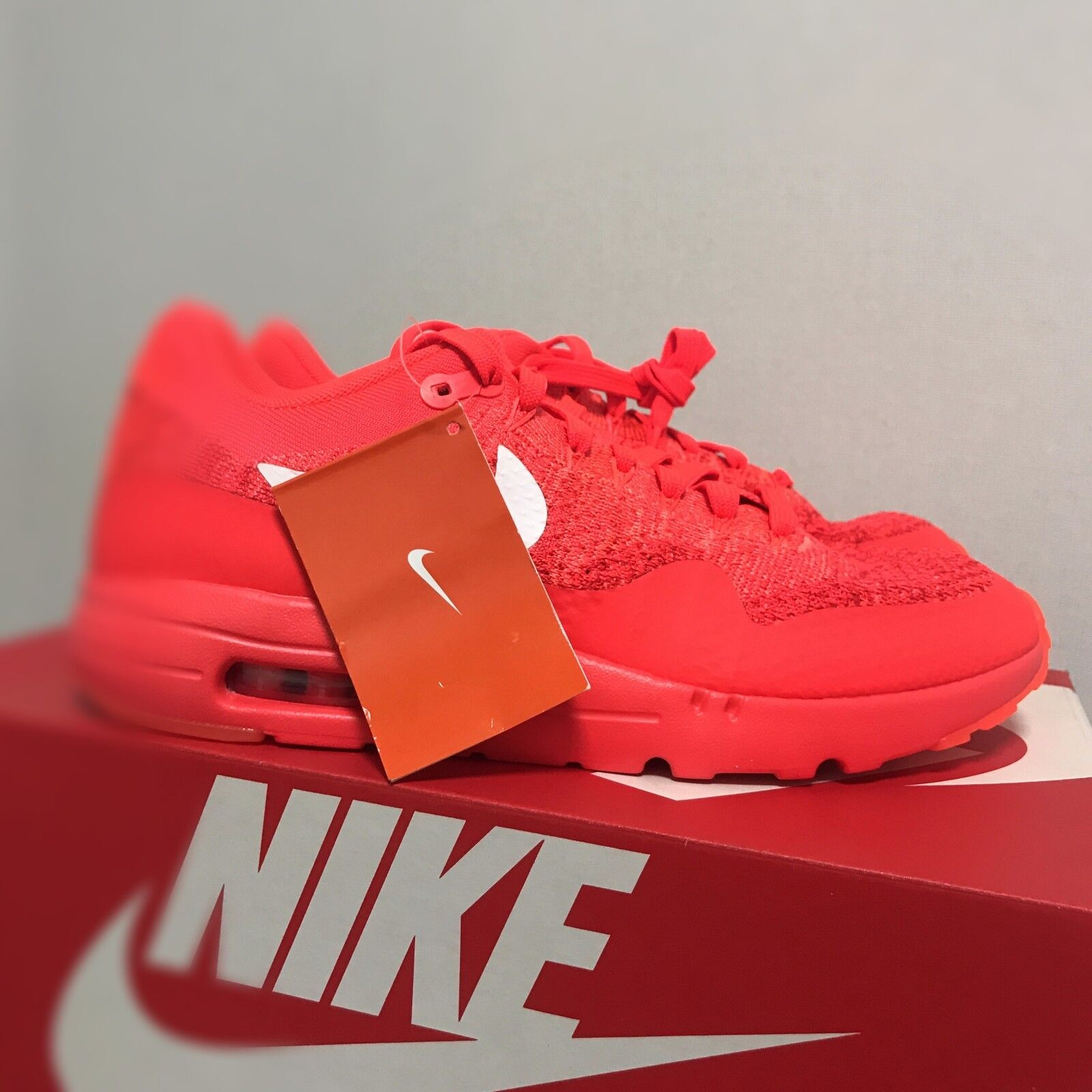 Nike Air Max 1 Ultra Flyknit  shoes orange 843384-601 Size 10 Limited