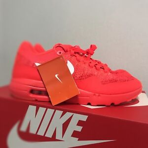 40fe7fcb17 Nike Air Max 1 Ultra Flyknit Shoes Orange 843384-601 Size 10 Limited ...