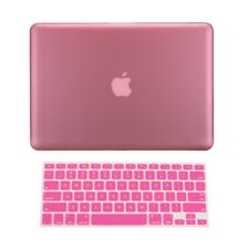 "2 in 1 PINK Rubberized Case for Macbook Pro 13"" A1425 Retina display + Key Cover"