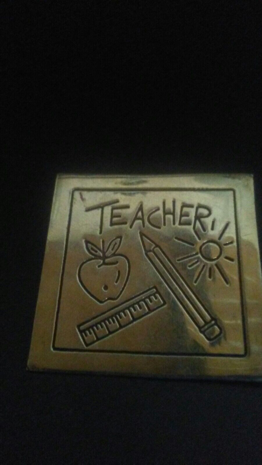 925 Streling Teacher Pendant Brooch  Signed Mexico tm-138