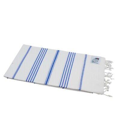 Saunatuch Sultan weiß blauen Streifen ca Hamamtuch Pestemal m 100 x 180 cm