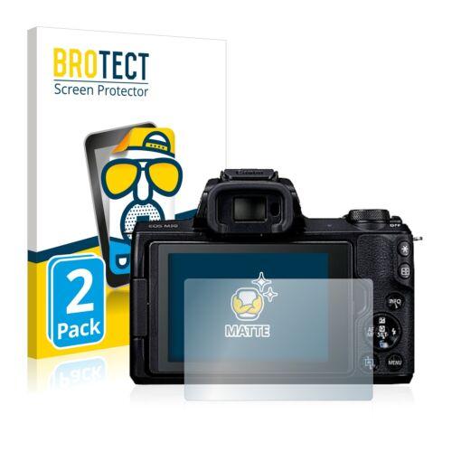 2x Protector Pantalla para Canon EOS M50 Mate Pelicula Protectora Antireflejo