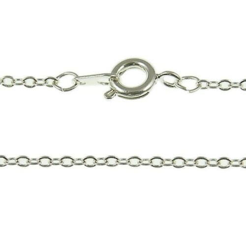 "18/"" Fine Trace Chain Necklace 1pk Silver Plated"