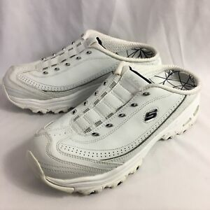 5a3dd1c38a32 Women s 9 Skechers Sport D Lites slip on shoes white walking ...