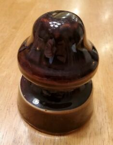 Brown No Names Porcelain Insulator