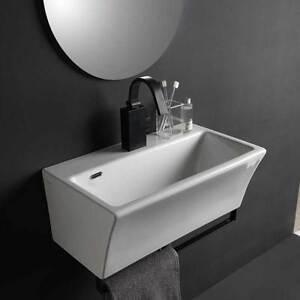 Lavabo in ceramica per installazione sospesa 50x35 utile per bagni piccoli Xilon
