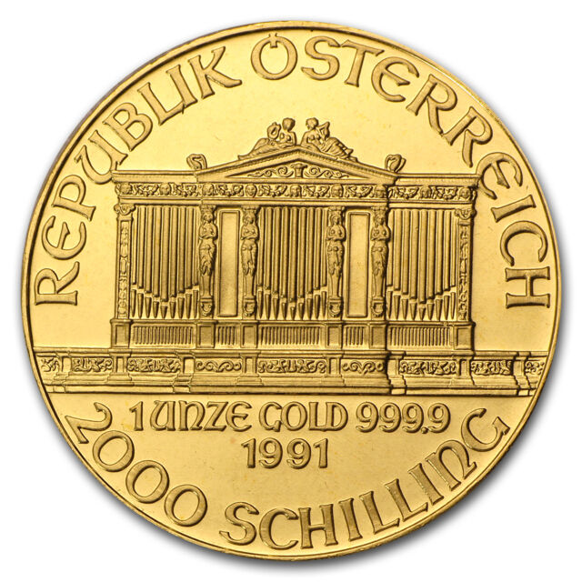 1991 Austria 1 oz Gold Philharmonic BU - SKU #74663