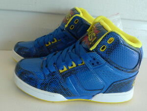 003b659f480 Osiris Shoes NYC 83 VULC - Kids High Top Skate - Blu/Red/Yel - US ...