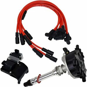 95-07-V6-Chevy-GMC-VORTEC-Distributor-Plug-Wires-Ignition-Coil-amp-Module-4-3L-262