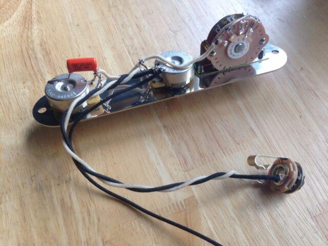 Fender Telecaster Wiring Harness 250k CTS Pots Oak Switch .022 Orange Drop Plate