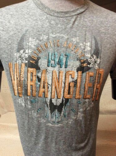 New Mens Western Wear Cowboy Wrangler T-Shirt Wrangler Bull Riding