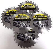 "Oldham 6-1/2"" x 24 650C Tooth Wood Saw Blade 5 BLADES"
