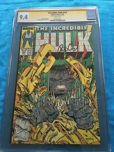 Incredible-Hulk-343-Marvel-CGC-SS-9-4-NM-Signed-by-Peter-David