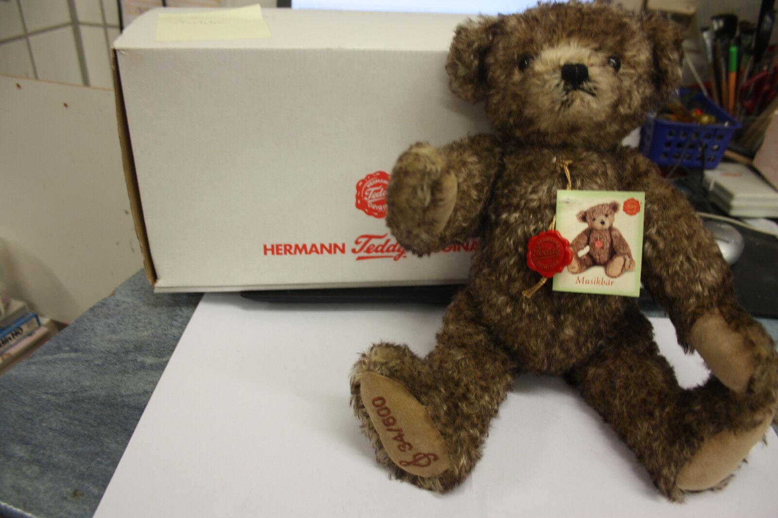 Hermann Teddy 109365 sammlerbär musikbär limitado