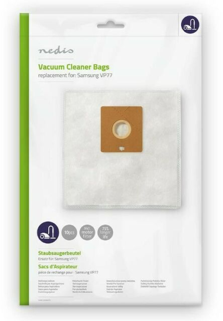 Vacuum Cleaner Dust Bags Replacement for SAMSUNG VP77 Synthetic NEDIS 10 pcs