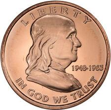 1 oz Copper Round - Franklin Half Dollar