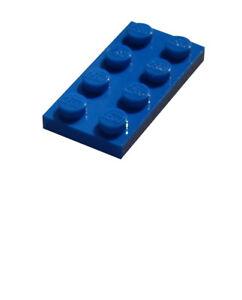 Lego-50x-Platte-2x4-blau-3020-Neu-blaue-Platten-blue-plate-plates-New