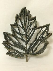 Twig Stick Made Wood leaf Modern Art Folk Art eBay