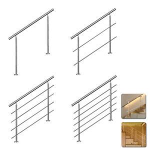 Edelstahl Handlauf Geländer Treppengeländer Bausatz Treppen Brüstung Querstab