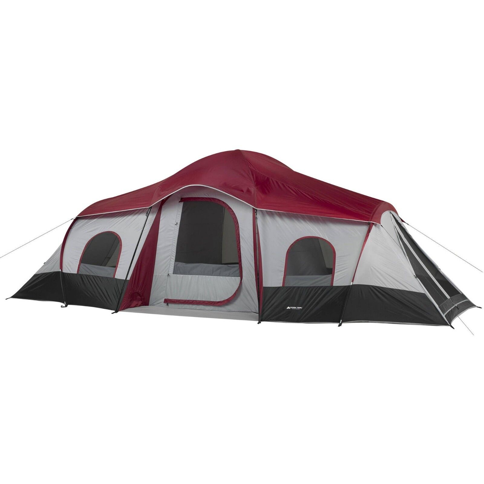 10 Person Tent 3 Room Lodge Cabin Family Tents Screened Shelter Camping Outdoor