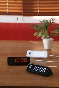 New BRUNO LED light clock with USB BCR-001 Free Shipping From JAPAN