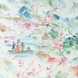 Japanese-Spring-fabric-Chinese-Asian-oriental-style-cotton-green-pink-white