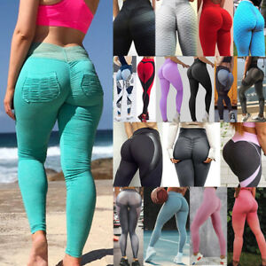 Women Sexy Butt Lift Push Up Leggings Compression Thigh Slimming Yoga Pants US