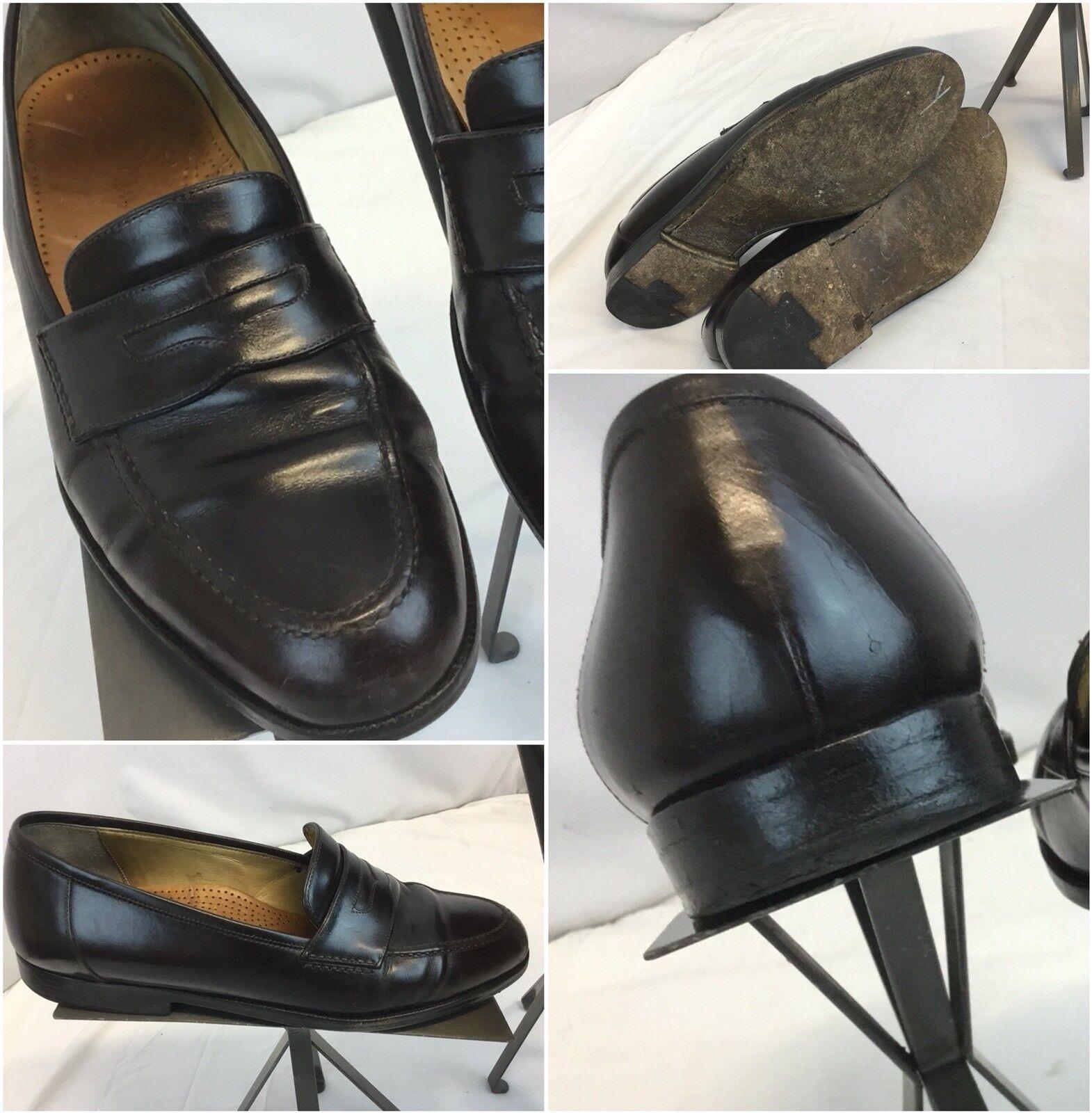 Cole Haan Loafers Shoes Sz 8 D Brown Leather Italy EUC YGI G8 Scarpe classiche da uomo