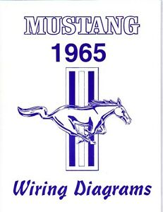 1965 65 MUSTANG WIRING DIAGRAM MANUAL | eBay