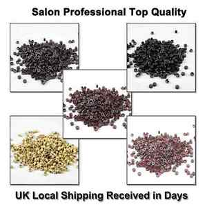 200-500-PCS-4-5mm-5mm-Silicone-Lined-Micro-Rings-Beads-Tubes-For-Hair-Extensions
