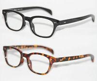 Herren Nerd Brille Klarglas Hornbrille flach lange Bügel tortoise schwarz 727