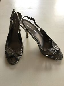 Gianni Sandalias Estampado Animal Charol Plata Bini De Cuero Zapatos 6gIbY7yfv
